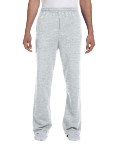 Ash 8 oz., 50/50 NuBlend® Open-Bottom Sweatpants