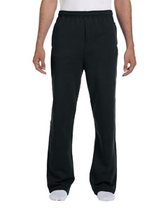 Black 8 oz., 50/50 NuBlend® Open-Bottom Sweatpants