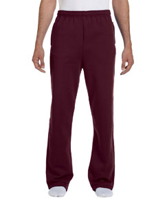 Maroon 8 oz., 50/50 NuBlend® Open-Bottom Sweatpants