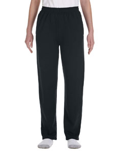 Black Youth 8 oz., 50/50 NuBlend® Open-Bottom Sweatpants