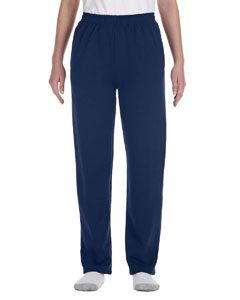 J Navy Youth 8 oz., 50/50 NuBlend® Open-Bottom Sweatpants