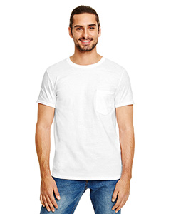 White Adult Lightweight Pocket Tee