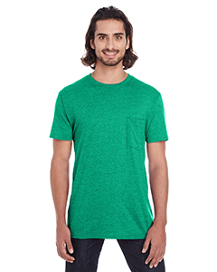 Heather Green Adult Lightweight Pocket Tee