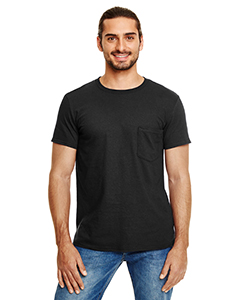 Black Adult Lightweight Pocket Tee