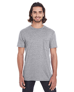 Heather Graphite Adult Lightweight Pocket Tee
