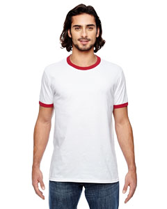 White/ Red Lightweight Ringer T-Shirt
