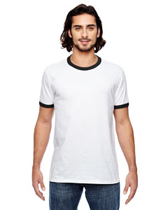 White/ Black Lightweight Ringer T-Shirt