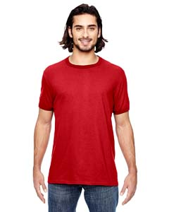 Heather Red/ Red Adult Lightweight Ringer T-Shirt