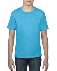 Hthr Carib Blue Youth Ringspun T-Shirt