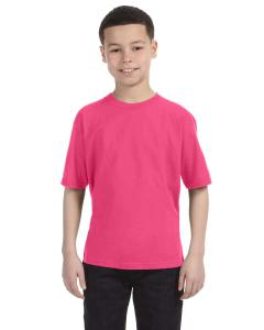 Neon Pink Youth Ringspun T-Shirt