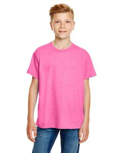Heather Hot Pink Youth Ringspun T-Shirt