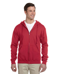 True Red Adult 8 oz. NuBlend® Fleece Full-Zip Hood
