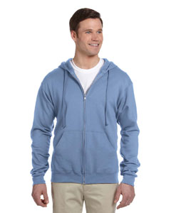 Light Blue Adult 8 oz. NuBlend® Fleece Full-Zip Hood