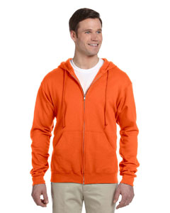 Safety Orange Adult 8 oz. NuBlend® Fleece Full-Zip Hood