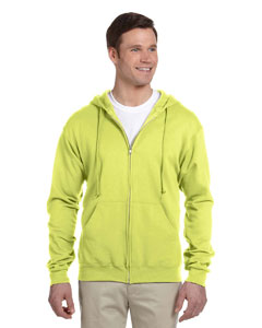 Safety Green Adult 8 oz. NuBlend® Fleece Full-Zip Hood