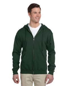 Forest Green Adult 8 oz. NuBlend® Fleece Full-Zip Hood