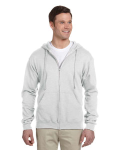Ash Adult 8 oz. NuBlend® Fleece Full-Zip Hood