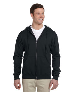 Black Adult 8 oz. NuBlend® Fleece Full-Zip Hood