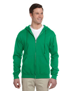 Kelly 8 oz., 50/50 NuBlend® Fleece Full-Zip Hood