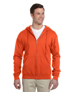Burnt Orange Adult 8 oz. NuBlend® Fleece Full-Zip Hood