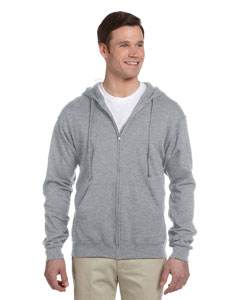 Athletic Heather Adult 8 oz. NuBlend® Fleece Full-Zip Hood