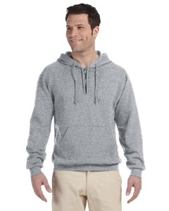 Oxford Adult 8 oz. NuBlend® Fleece Quarter-Zip Pullover Hood