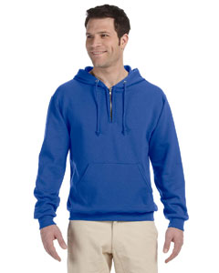 Royal Adult 8 oz. NuBlend® Fleece Quarter-Zip Pullover Hood