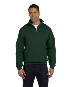 Forest Green Adult 8 oz. NuBlend® Quarter-Zip Cadet Collar Sweatshirt