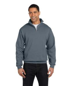 Charcoal Grey 8 oz., 50/50 NuBlend® Quarter-Zip Cadet Collar Sweatshirt