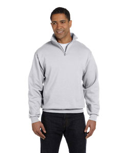 Ash Adult 8 oz. NuBlend® Quarter-Zip Cadet Collar Sweatshirt