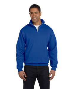 Royal Adult 8 oz. NuBlend® Quarter-Zip Cadet Collar Sweatshirt