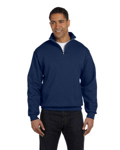 J Navy Adult 8 oz. NuBlend® Quarter-Zip Cadet Collar Sweatshirt