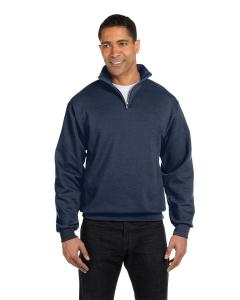 Vintage Htr Navy Adult 8 oz. NuBlend® Quarter-Zip Cadet Collar Sweatshirt