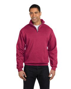Vintage Hthr Red 8 oz., 50/50 NuBlend® Quarter-Zip Cadet Collar Sweatshirt