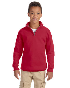 True Red Youth 8 oz., 50/50 NuBlend® Quarter-Zip Cadet Collar Sweatshirt