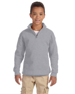 Oxford Youth 8 oz., 50/50 NuBlend® Quarter-Zip Cadet Collar Sweatshirt