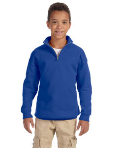 Royal Youth 8 oz., 50/50 NuBlend® Quarter-Zip Cadet Collar Sweatshirt