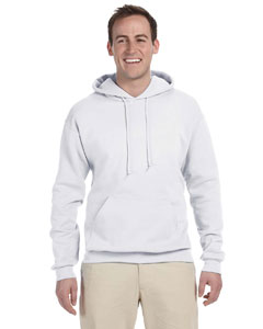 White 8 oz., 50/50 NuBlend® Fleece Pullover Hood