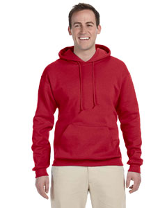 True Red 8 oz., 50/50 NuBlend® Fleece Pullover Hood