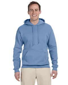 Light Blue Adult 8 oz. NuBlend® Fleece Pullover Hood