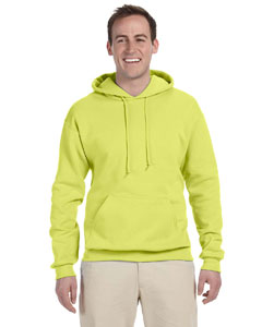 Safety Green 8 oz., 50/50 NuBlend® Fleece Pullover Hood