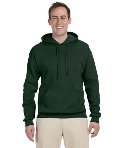 Forest Green 8 oz., 50/50 NuBlend® Fleece Pullover Hood