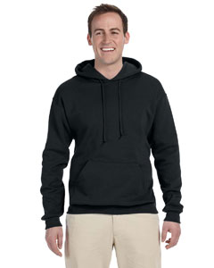 Black 8 oz., 50/50 NuBlend® Fleece Pullover Hood