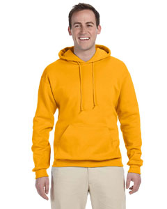Gold 8 oz., 50/50 NuBlend® Fleece Pullover Hood