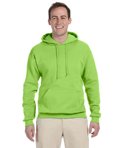 Neon Green 8 oz., 50/50 NuBlend® Fleece Pullover Hood