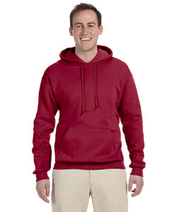 Crimson 8 oz., 50/50 NuBlend® Fleece Pullover Hood