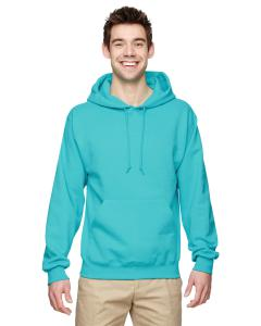Scuba Blue 8 oz., 50/50 NuBlend® Fleece Pullover Hood