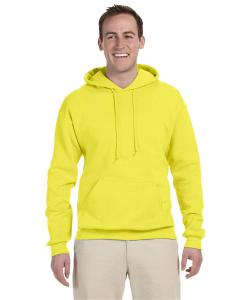 Neon Yellow 8 oz., 50/50 NuBlend® Fleece Pullover Hood