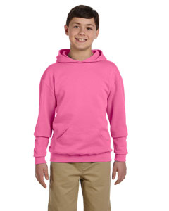 Neon Pink Youth 8 oz., 50/50 NuBlend® Fleece Pullover Hood