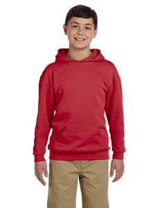 True Red Youth 8 oz., 50/50 NuBlend® Fleece Pullover Hood